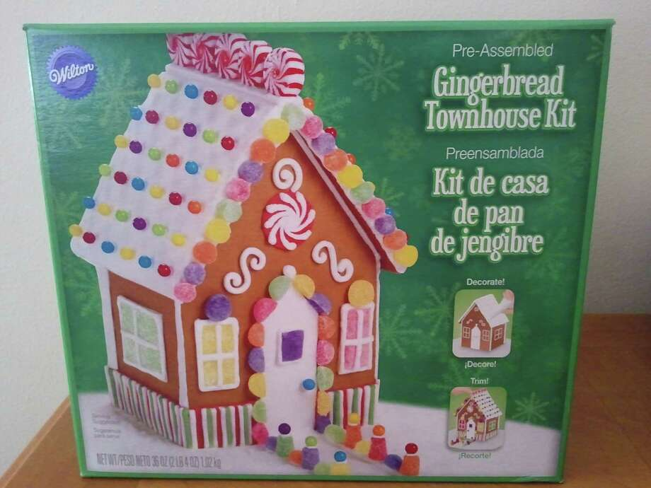 Preassembled gingerbread townhome from Wilton, $9.67 at Walmart.