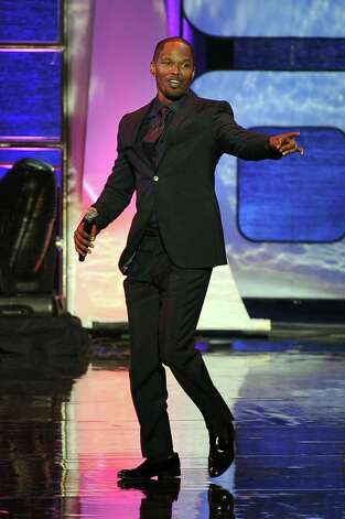 This Thursday, Nov. 8, 2012 photo shows actor and singer Jamie Foxx onstage at the Soul Train Awards at Planet Hollywood Resort and Casino in Las Vegas. (Photo by Jeff Bottari/Invision/AP) Photo: Jeff Bottari / Invision