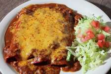 "Musician Augie Meyers says he'd eat four cheese enchiladas from Garcia's Mexican Food (""no beans, no rice"") Thursday December 6, 2012"