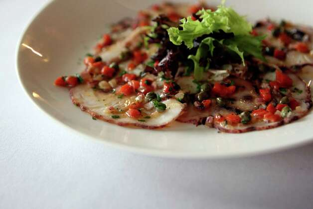 Octopus carpaccio from from Bite, a restaurant serves small plates with influences of Spain, France, Chile and Argentina. Photo: Helen L. Montoya, San Antonio Express-News / ©SAN ANTONIO EXPRESS-NEWS
