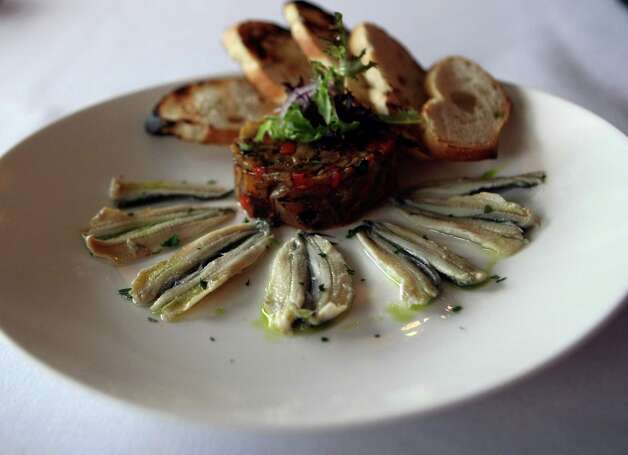 Boquerones (anchovies) from Bite, a restaurant serves small plates with influences of Spain, France, Chile and Argentina. Photo: Helen L. Montoya, San Antonio Express-News / ©SAN ANTONIO EXPRESS-NEWS