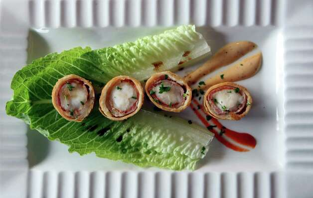 Lobster spring roll from Bite, a restaurant serves small plates with influences of Spain, France, Chile and Argentina. Photo: Helen L. Montoya, San Antonio Express-News / ©SAN ANTONIO EXPRESS-NEWS