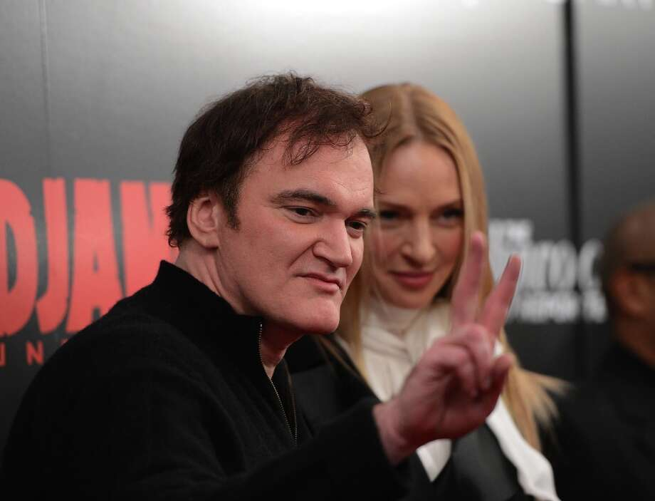 Quentin Tarantino and Uma Thurman attends a screening of Django Unchained hosted by The Weinstein Company with The Hollywood Reporter, Samsung Galaxy and The Cinema Society at Ziegfeld Theater on December 11, 2012 in New York City.  (Photo by Stephen Lovekin/Getty Images) Photo: Stephen Lovekin, Getty Images / 2012 Getty Images