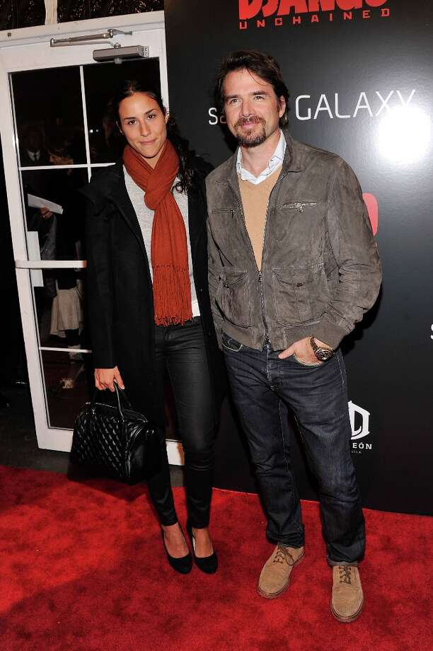 Matthew Settle and guest attend a screening of Django Unchained hosted by The Weinstein Company with The Hollywood Reporter, Samsung Galaxy and The Cinema Society at Ziegfeld Theater on December 11, 2012 in New York City.  (Photo by Stephen Lovekin/Getty Images) Photo: Stephen Lovekin, Getty Images / 2012 Getty Images