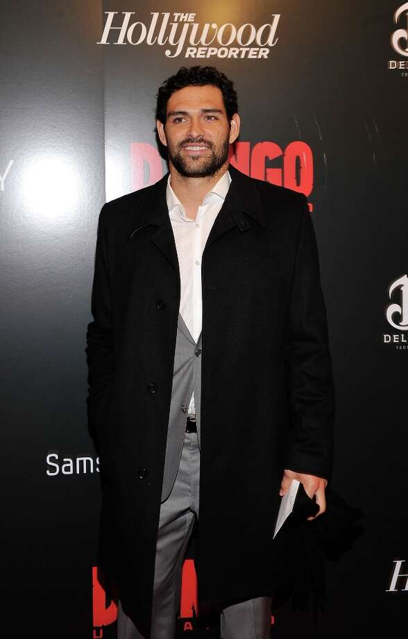 Mark Sanchez attends a screening of Django Unchained hosted by The Weinstein Company with The Hollywood Reporter, Samsung Galaxy and The Cinema Society at Ziegfeld Theater on December 11, 2012 in New York City.  (Photo by Stephen Lovekin/Getty Images) Photo: Stephen Lovekin, Getty Images / 2012 Getty Images
