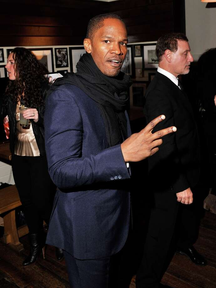 Actor Jamie Foxx attends the after party for a screening Django Unchained hosted by The Weinstein Company With The Hollywood Reporter, Samsung Galaxy And The Cinema Society at The High Line Room in The Standard Hotel on December 11, 2012 in New York City.  (Photo by Stephen Lovekin/Getty Images) Photo: Stephen Lovekin, Getty Images / 2012 Getty Images