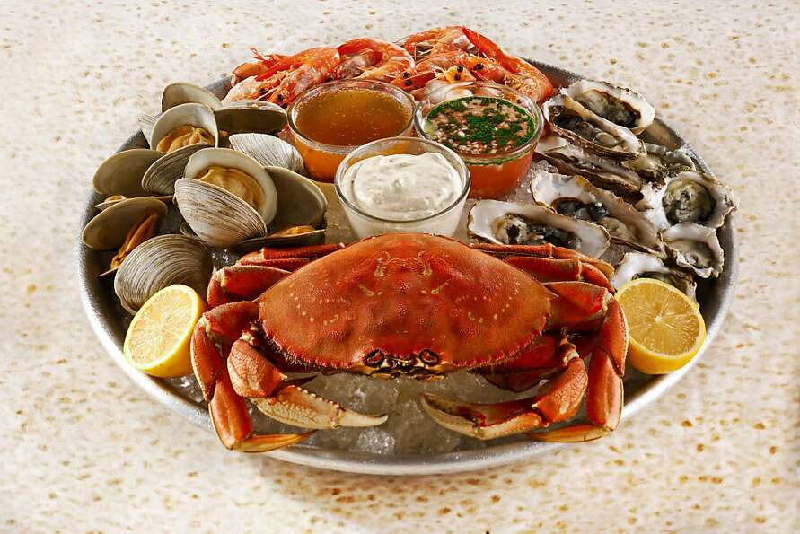 Iced Shellfish Platter With Three Sauces; styling by Amanda Gold