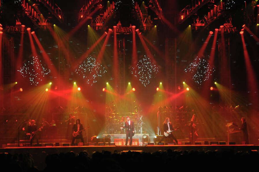 Members of The Trans-Siberian Orchestra perform at the Times Union Center on Monday, Dec. 26, 2011 i