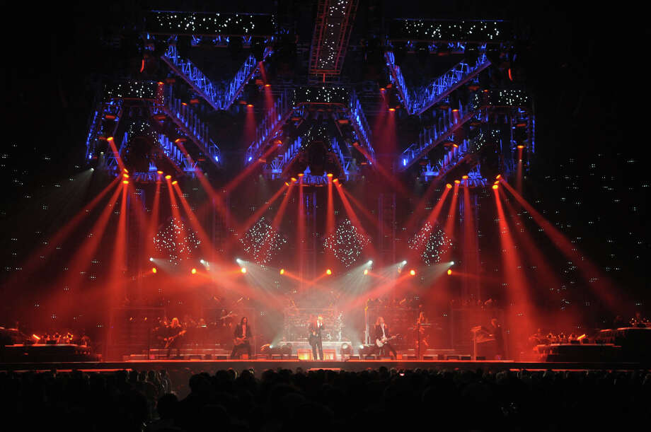 Members of The Trans-Siberian Orchestra perform at the Times Union Center on Monday, Dec. 26, 2011 in Albany.  The group played to concerts on Monday, an afternoon show and an evening show.  (Paul Buckowski / Times Union) Photo: Paul Buckowski, Albany Times Union / 00015891A
