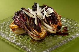 Seared Radicchio as seen in San Francisco, California, on Wednesday, December 5, 2012.  Food styled by Janny Hu.