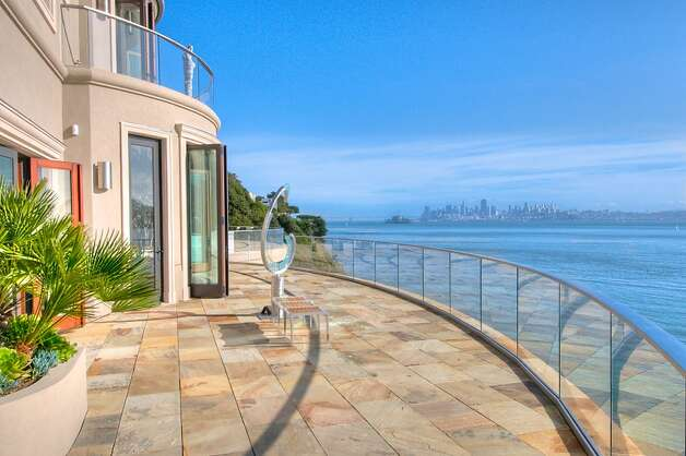 Villa Belvedere, a waterfront home in Belvedere, is listed for $39 million and was the 2012 Marin Designer Showcase home. It looks out onto San Francisco and the Golden Gate Bridge and is nearly 10,000 square feet and was designed by architect Sandy Walker. Photo: Courtesy Olivia Hsu Decker