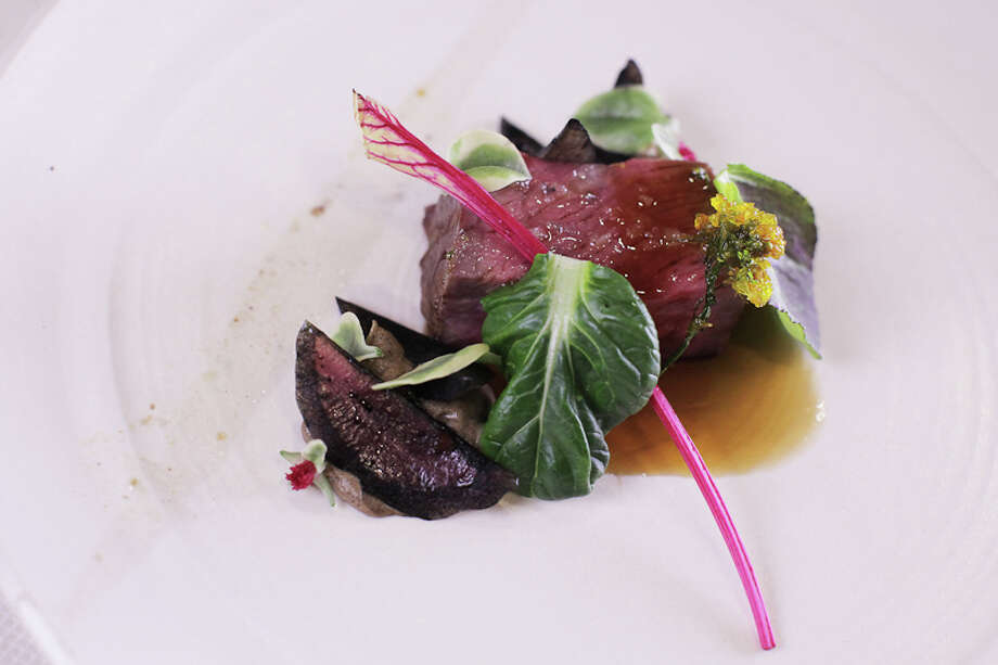 Fifth Course: Wagyu, celery root, red onion, Chinese take-out (Creel Films)