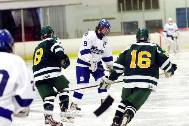 Darien's Dana Wensberg (9) during the boys ice hockey game against Hamden High School at the Darien Ice Rink on Wednesday, Dec. 12, 2012. Photo: Amy Mortensen / Connecticut Post Freelance