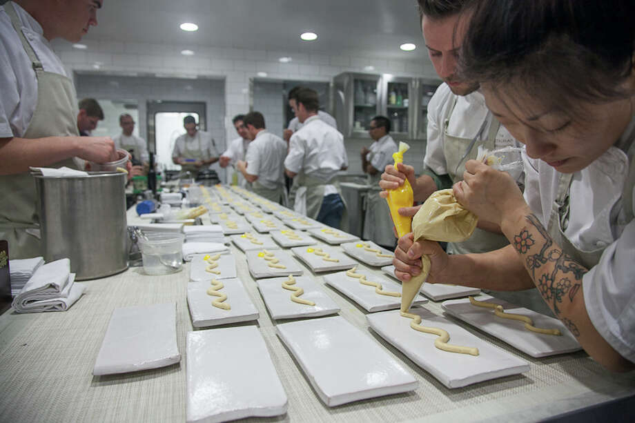 Plating the first course. (Creel Films)