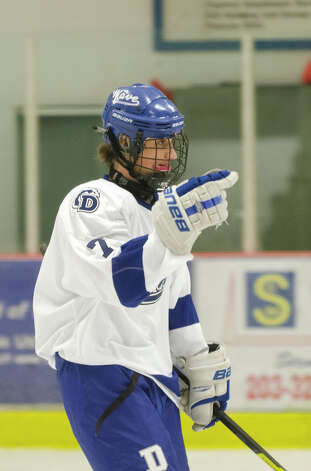 Darien's Jack Knowlton (7) on the ice during the boys ice hockey game against Hamden High School at the Darien Ice Rink on Wednesday, Dec. 12, 2012. Photo: Amy Mortensen / Connecticut Post Freelance