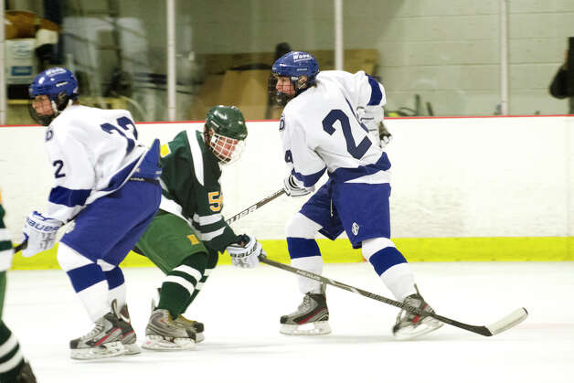 Darien's Dillon Fitzpatrick (24) on the ice during the boys ice hockey game against Hamden High School at the Darien Ice Rink on Wednesday, Dec. 12, 2012. Photo: Amy Mortensen / Connecticut Post Freelance