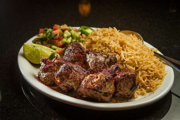 The Lamb Kabob at De Afghanan restaurant in Livermore, Calif., is seen on Thursday, December 6th, 2012. Photo: John Storey, Special To The Chronicle