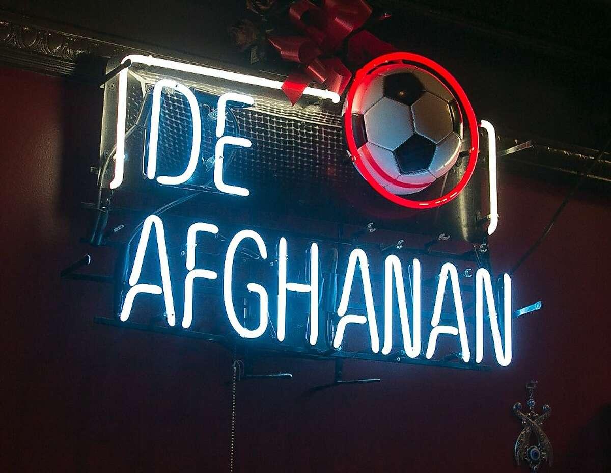 The interior of De Afghanan restaurant in Livermore, Calif., is seen on Thursday, December 6th, 2012.