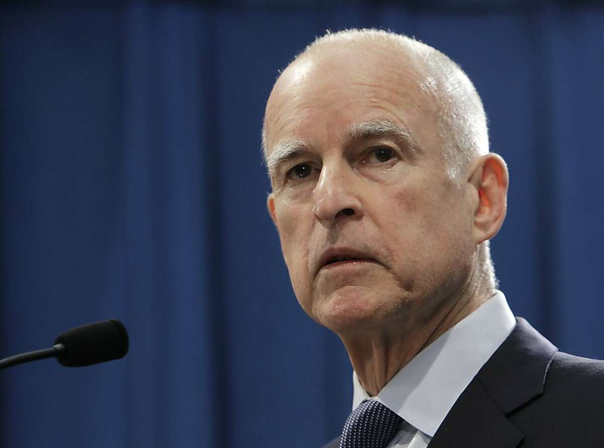 """In this photo taken Wednesday, Nov. 7, 2012, is Gov. Jerry Brown speaks at a news conference in Sacramento, Calif. The 74-year-old governor is being treated with radiation for early stage prostate cancer, his office announced Wednesday, Dec. 12, 2012. Brown's """"prognosis is excellent, and there are not expected to be any significant side effects,"""" University of California, San Francisco oncologist Eric Small said. (AP Photo/Rich Pedroncelli)"""