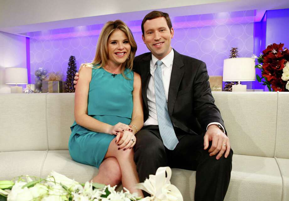 "This image released by NBC shows Jenna Bush Hager, left, and her husband Henry Hager as they appear on NBC News' ""Today"" show, Wednesday, Dec. 12, 2012 in New York where they announced they were expecting their first child. The 31-year-old made the announcement on NBC's ""Today"" show, where she is a contributing correspondent. Hager, the twin daughter of former President George W. Bush, and her husband, Henry, have been married for four years.  (AP Photo/NBC, Peter Kramer) Photo: Peter Kramer"