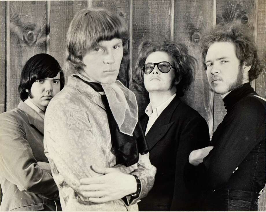 rock band Moving Sidewalks from left: Dan Mitchell, Tom Moore, Don Summers, Billy Gibbons Photo: Rock Beat Records