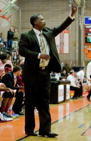 St. Joseph High School boys basketball head coach Chris Watts during a game at Ridgefield. Wednesday, Dec. 12, 2012 Photo: Scott Mullin / The News-Times Freelance