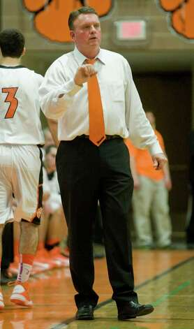 Ridgefield High School boys basketball head coach Carl Charles during a game at Ridgefield. Wednesday, dec. 12, 2012 Photo: Scott Mullin / The News-Times Freelance