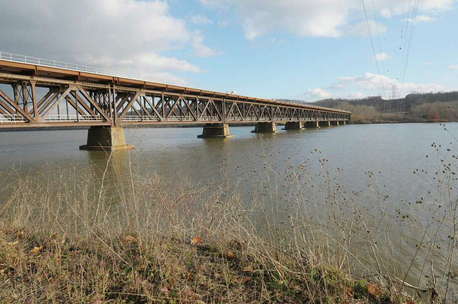 A view of the rail road bridge that crosses the Hudson River seen here on Wednesday, Dec. 12, 2012 in Mechanicville, NY.  (Paul Buckowski / Times Union) Photo: Paul Buckowski
