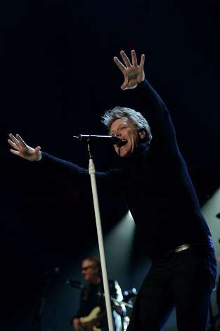 "NEW YORK, NY - DECEMBER 12:  Musician Jon Bon Jovi performs at ""12-12-12"" a concert benefiting The Robin Hood Relief Fund to aid the victims of Hurricane Sandy presented by Clear Channel Media & Entertainment, The Madison Square Garden Company and The Weinstein Company at Madison Square Garden on December 12, 2012 in New York City.  (Photo by Larry Busacca/Getty Images for Clear Channel) Photo: Larry Busacca, Getty Images / Getty Images"