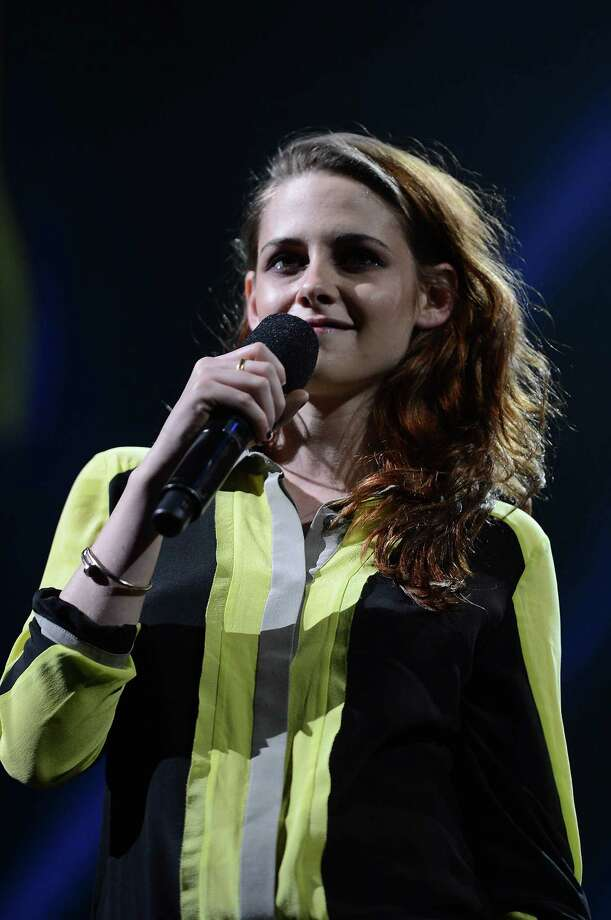 "NEW YORK, NY - DECEMBER 12:  Actress Kristen Stewart speaks onstage at ""12-12-12"" a concert benefiting The Robin Hood Relief Fund to aid the victims of Hurricane Sandy presented by Clear Channel Media & Entertainment, The Madison Square Garden Company and The Weinstein Company at Madison Square Garden on December 12, 2012 in New York City.  (Photo by Larry Busacca/Getty Images for Clear Channel) Photo: Larry Busacca, Getty Images / Getty Images"