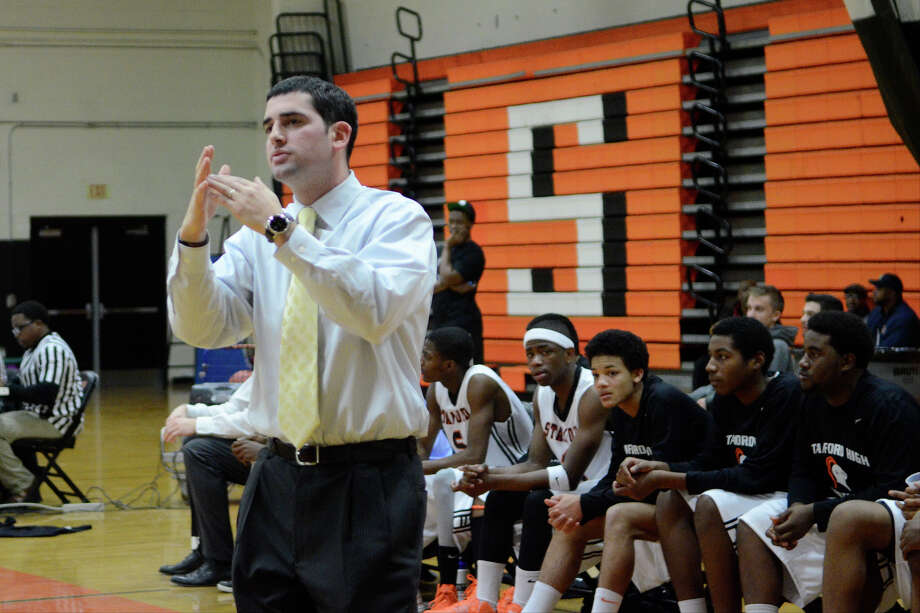 Stamford coach Dan Melzer calls a time out as Stamford High School hosts Bassick High School in boys varsity basketball in Stamford, CT on Dec. 12, 2012. Photo: Shelley Cryan / Shelley Cryan for the Stamford Advocate/ freelance Shelley Cryan