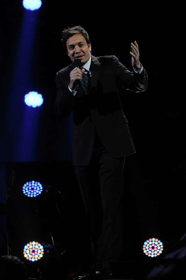 "NEW YORK, NY - DECEMBER 12: Jimmy Fallon performs at ""12-12-12"" a concert benefiting The Robin Hood Relief Fund to aid the victims of Hurricane Sandy presented by Clear Channel Media & Entertainment, The Madison Square Garden Company and The Weinstein Company at Madison Square Garden on December 12, 2012 in New York City.  (Photo by Larry Busacca/Getty Images for Clear Channel) Photo: Larry Busacca, Getty Images / Getty Images"