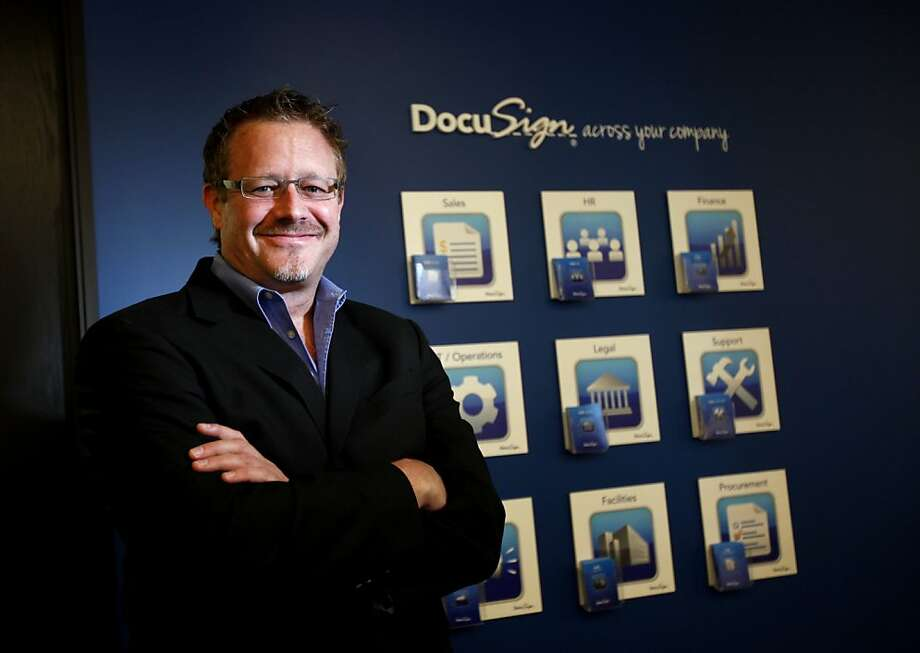 Tom Gonser, who founded DocuSign in 2003,  has helped the technology grow exponentially. Photo: Sarah Rice, Special To The Chronicle