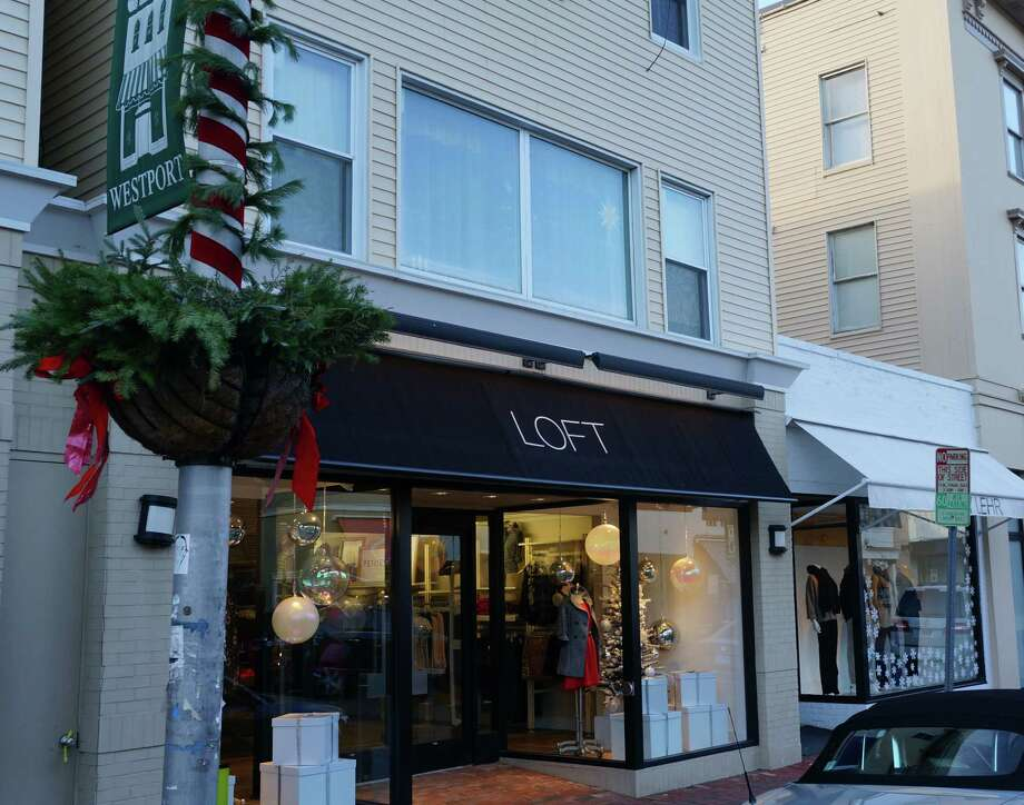A proposed text amendment to Westport's zoning regulations would allow LOFT and other retailers in downtown Westport's Business Center District to expand their operations to the second floor. Photo: Paul Schott / Westport News