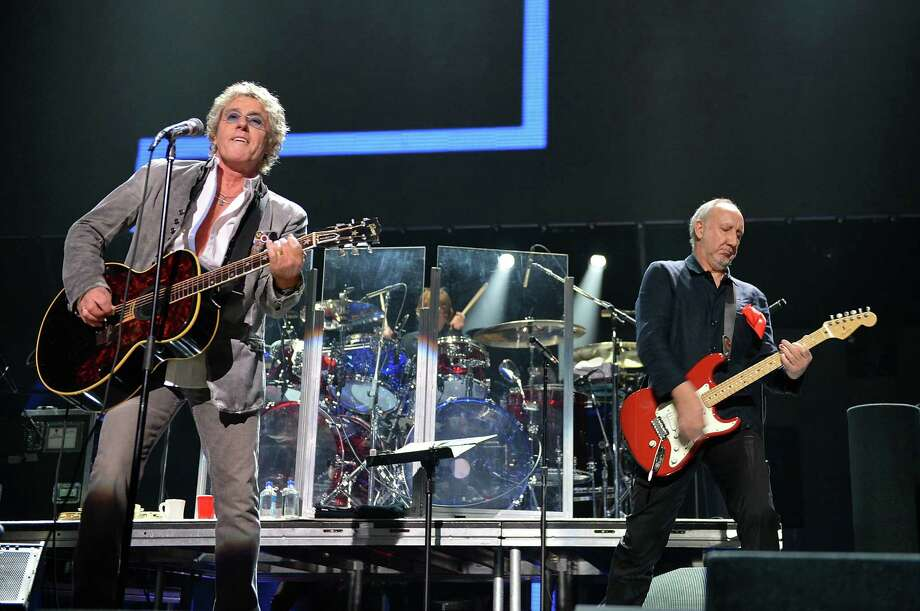 "NEW YORK, NY - DECEMBER 12:  Roger Daltrey (L) and Pete Townshend of The Who perform at ""12-12-12"" a concert benefiting The Robin Hood Relief Fund to aid the victims of Hurricane Sandy presented by Clear Channel Media & Entertainment, The Madison Square Garden Company and The Weinstein Company at Madison Square Garden on December 12, 2012 in New York City.  (Photo by Larry Busacca/Getty Images for Clear Channel) Photo: Larry Busacca, Getty Images / Getty Images"