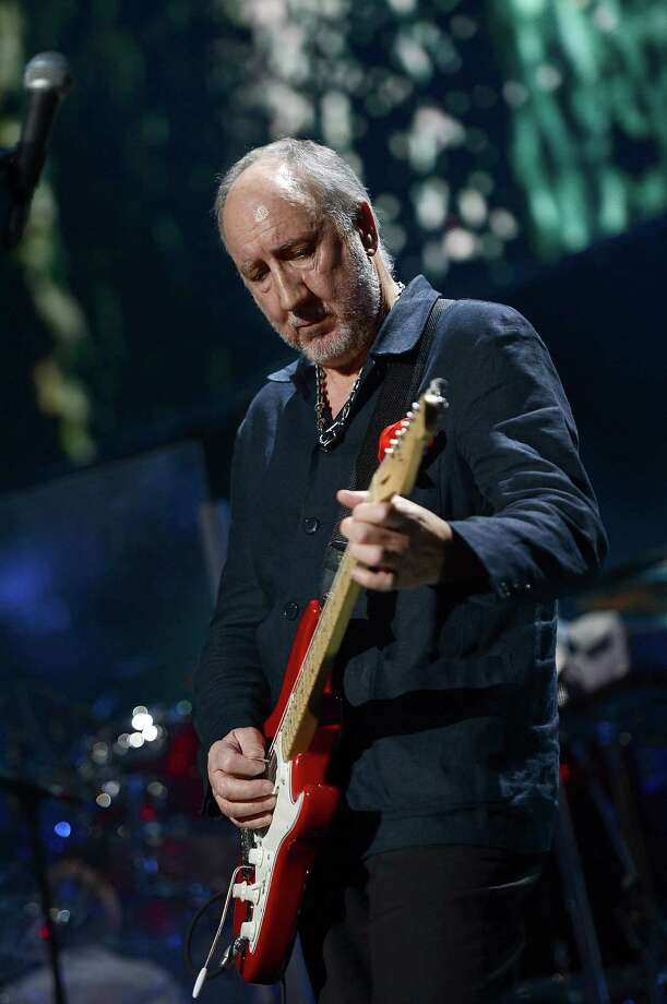 "NEW YORK, NY - DECEMBER 12:  Pete Townshend of The Who performs at ""12-12-12"" a concert benefiting The Robin Hood Relief Fund to aid the victims of Hurricane Sandy presented by Clear Channel Media & Entertainment, The Madison Square Garden Company and The Weinstein Company at Madison Square Garden on December 12, 2012 in New York City.  (Photo by Larry Busacca/Getty Images for Clear Channel) Photo: Larry Busacca, Getty Images / Getty Images"