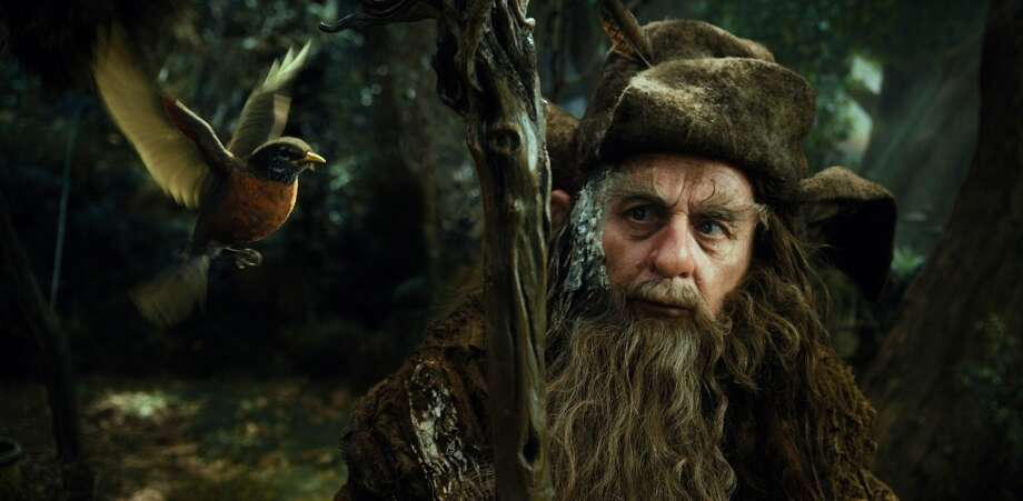 SYLVESTER McCOY as the Wizard Radagast the Brown.