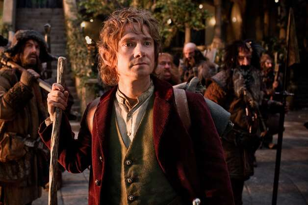 (L-r) JAMES NESBITT as Bofur, MARTIN FREEMAN (front) as Bilbo Baggins, STEPHEN HUNTER as Bombur, GRAHAM McTAVISH as Dwalin, WILLIAM KIRCHER as Bifur, and JED BROPHY as Nori.