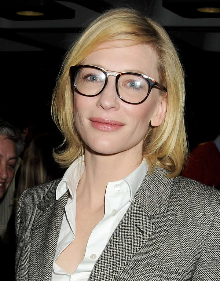 Cate Blanchett -- sporting a studious look -- who is lovely in her brief appearance in THE HOBBIT.