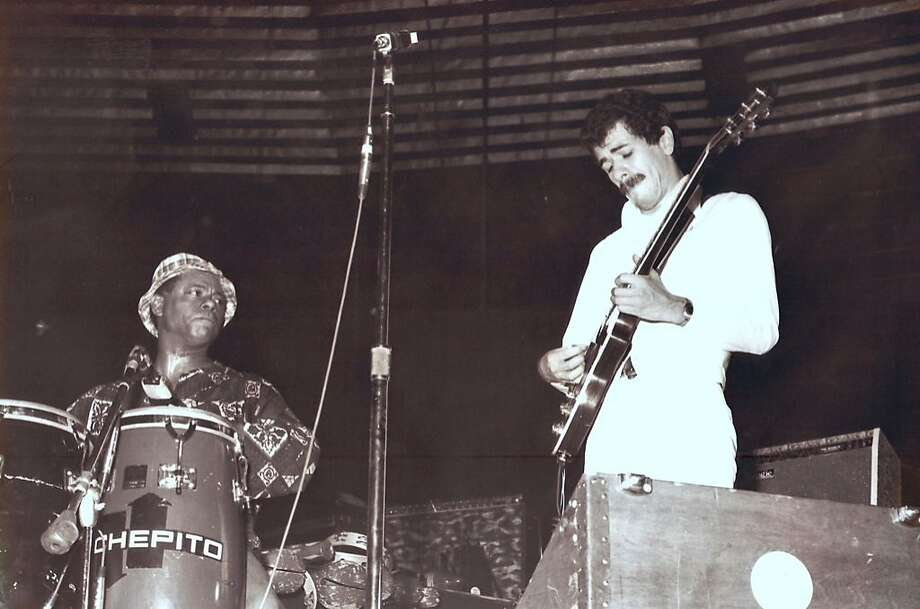 Armando Peraza & Carlos Santana  (1973) Photo: Courtesy Armando Peraza