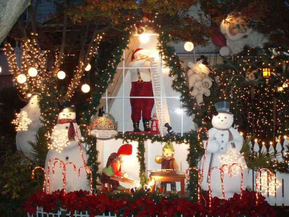 915 San Antonio Ave. Alameda, Alameda County, 94501This home has a classic display of Santa and his elves working hard  preparing for Christmas. (Trudy LaFlame / lightsofthevalley.com)