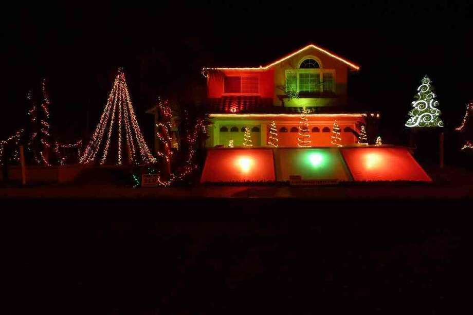 646 Zermatt St. Livermore, Alameda County, 94551- LivermoreThe lights have 128 independently controlled channels that make over 40,000 Christmas lights, flood lights, four 20 ft Water Cannons, a 25 ft Long waterfall, and 2 raising trees dance in sync to music. Viewers wishing to share in the magic need simply to drive up, tune to the posted radio station and enjoy their own personal light show with friends and family. Runs Nightly from 6-10:30 PM. (lightsofthevalley.com)