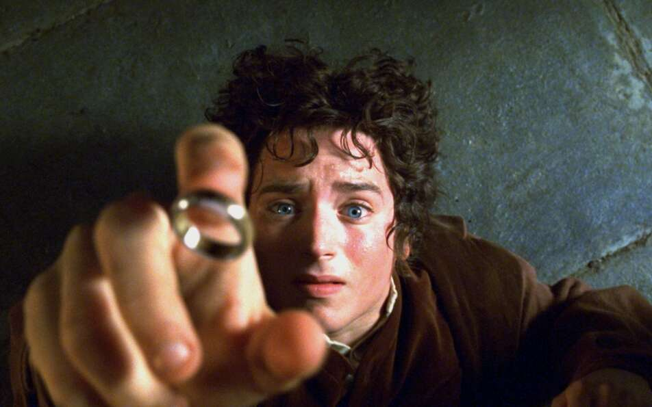 Answer to the Bonus Questionc. The One Ring Actor Elijah Wood is shown in a scen