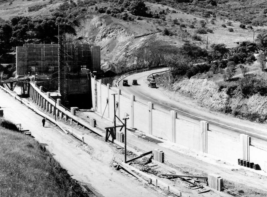 CALDECOTT TUNNEL, November 1937: The Caldecott Tunnel about a month before it opened. This in on the Contra Costa County side.  (Photo: Public Works Administration) Photo: Photo: Public Works Adminstratio / ONLINE_YES