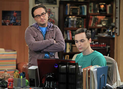 "Best performance by an actor in a television series, musical or comedy nominee:Jim Parsons, right, ""Big Bang Theory"" Photo: CBS, Sonja Flemming"