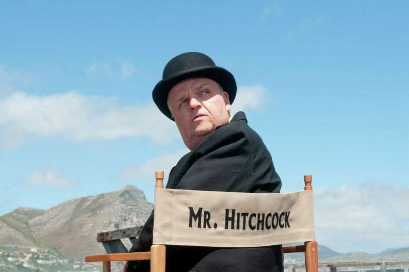 This image released by HBO shows Toby Jones, portraying Alfred Hitchcock in a scene from the film