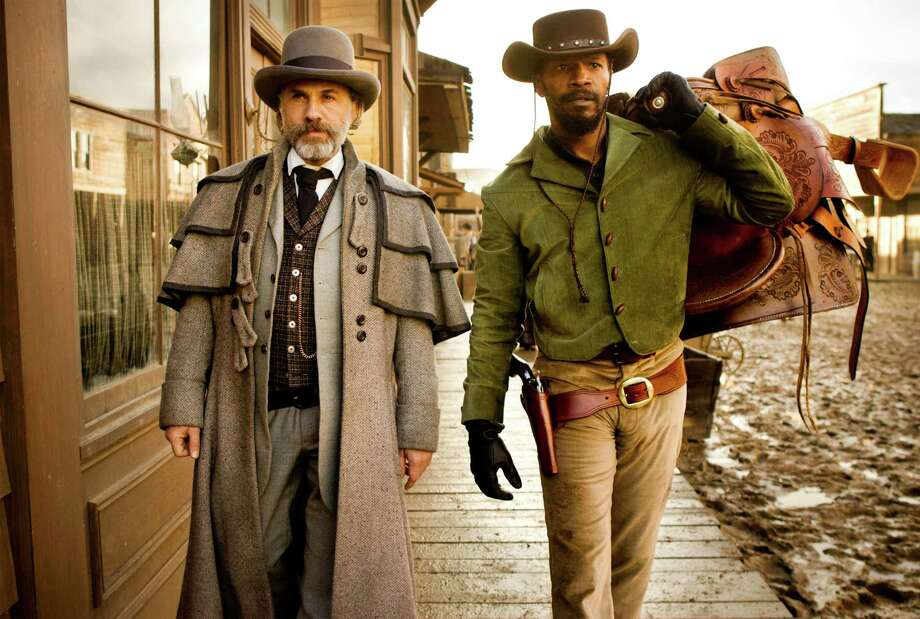 "This undated publicity image released by The Weinstein Company shows, from left, Christoph Waltz as Schultz and Jamie Foxx as Django in the film ""Django Unchained,"" directed by Quentin Tarantino.  The film was nominated for a Golden Globe for best drama on Thursday, Dec. 13, 2012. The 70th annual Golden Globe Awards will be held on Jan. 13.  (AP Photo/The Weinstein Company, Andrew Cooper, SMPSP) Photo: Andrew Cooper SMPSP"