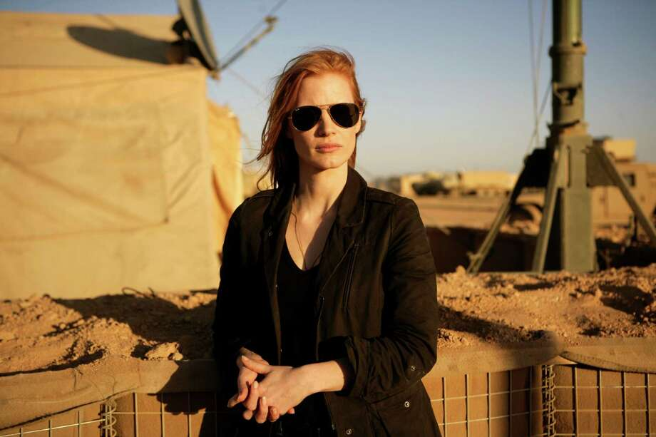 "FILE - This undated publicity film image provided by Columbia Pictures Industries, Inc. shows Jessica Chastain in""Zero Dark Thirty.""  Chastain was nominated Thursday, Dec. 13, 2012 for a Golden Globe for best actress in a drama for her role in the film. The 70th annual Golden Globe Awards will be held on Jan. 13. (AP Photo/Columbia Pictures Industries, Inc., Jonathan Olley, File) Photo: Jonathan Olley"