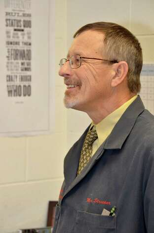 Technology and Engineering teacher and district coordinator, Leon Strecker in his office at Darien High School.  Dec. 10, 2012. Photo: Jeanna Petersen Shepard