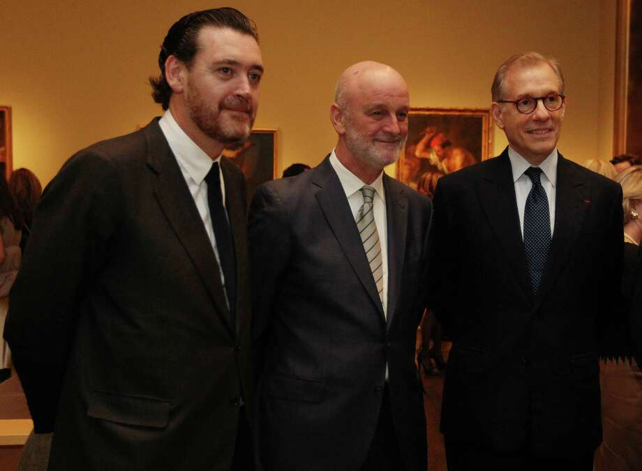 "Miguel Zugaza, Director of the Prado Museum, from left, Ramon Gil-Casares Satrustegui, Ambassador of Spain; Gary Tinterow, MFAH Director, attend the patrons dinner and preview of ""Portrait of Spain: Masterpieces from the Prado"" at the Museum of Fine Arts Houston. Photo: Mayra Beltran, Staff / © 2012 Houston Chronicle"